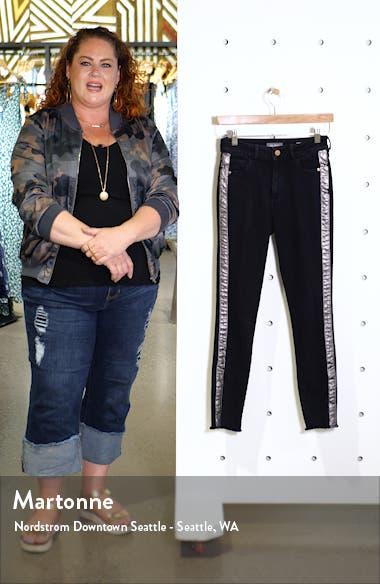 Instasculpt Farrow High Waist Crop Split Hem Skinny Jeans, sales video thumbnail