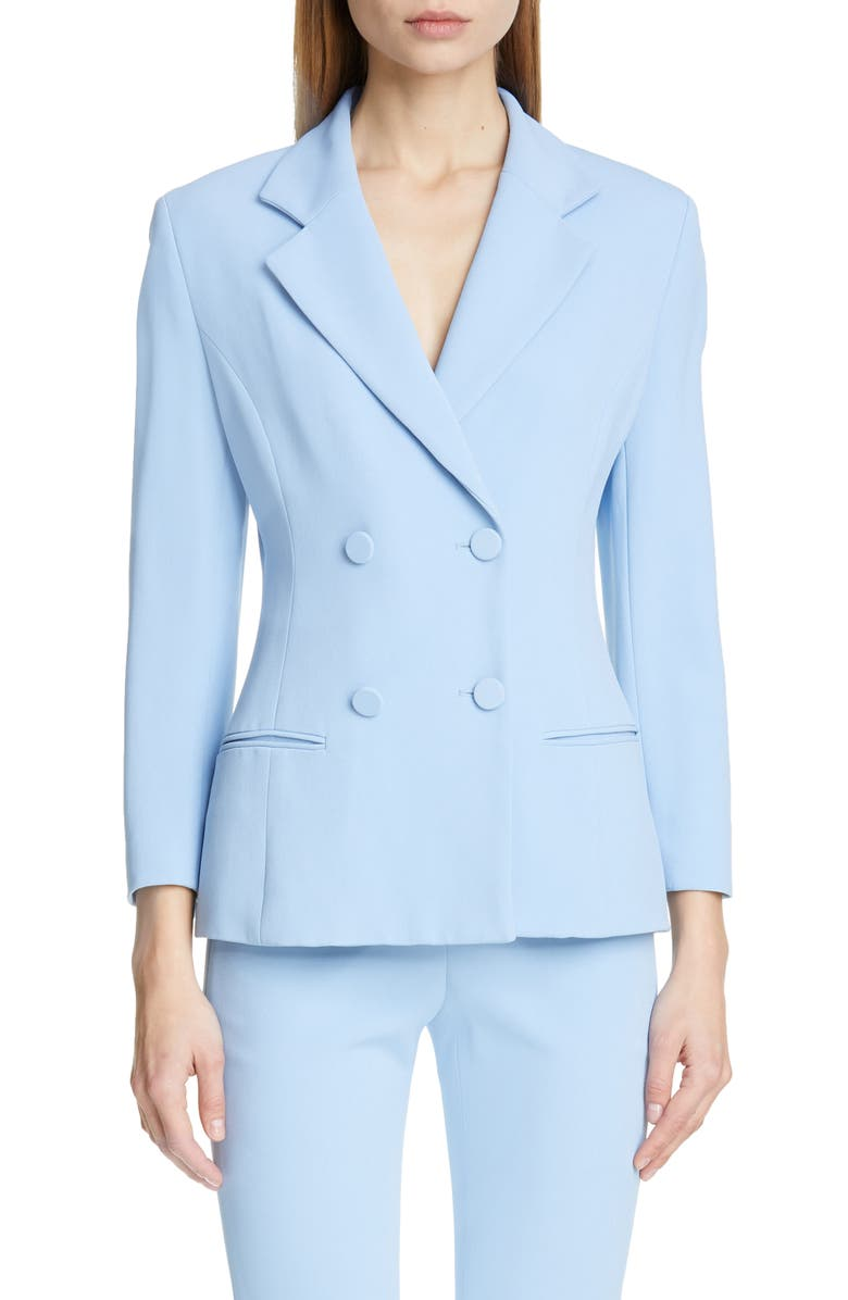 CUSHNIE Double Breasted Jacket, Main, color, POWDER BLUE