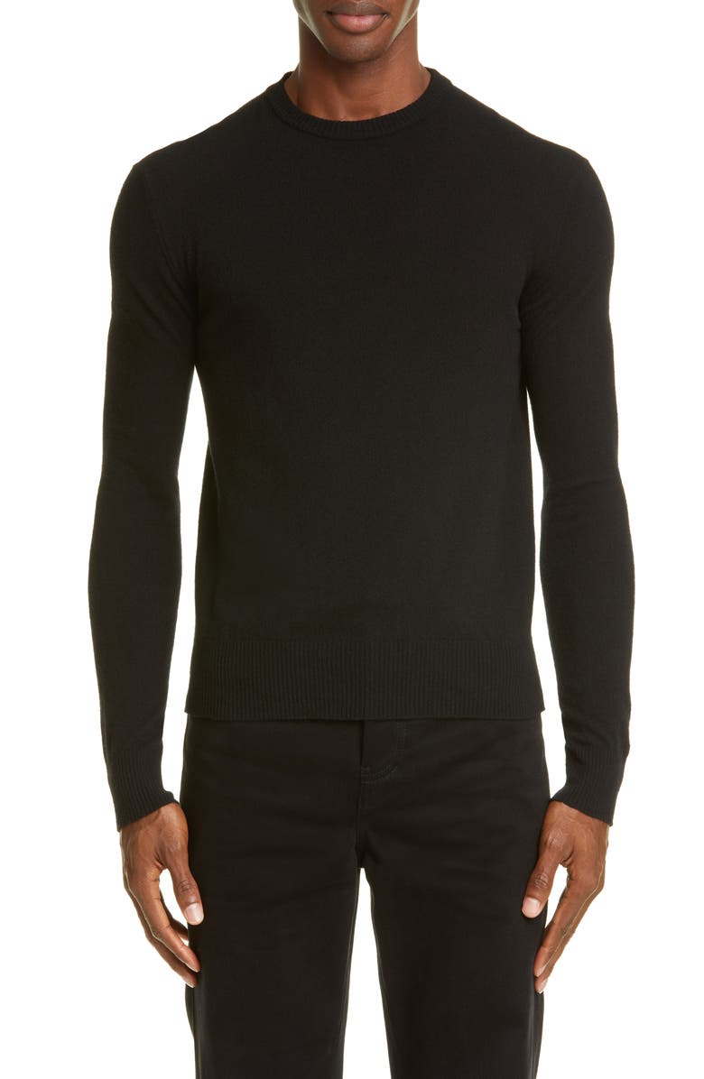 ACNE STUDIOS Niale Crewneck Wool Blend Sweater, Main, color, BLACK