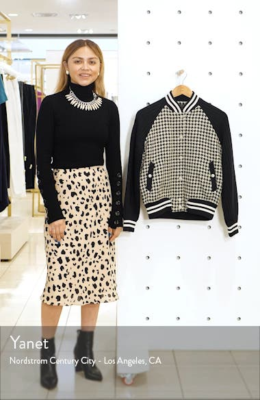 Courtney Houndstooth Bomber Jacket, sales video thumbnail