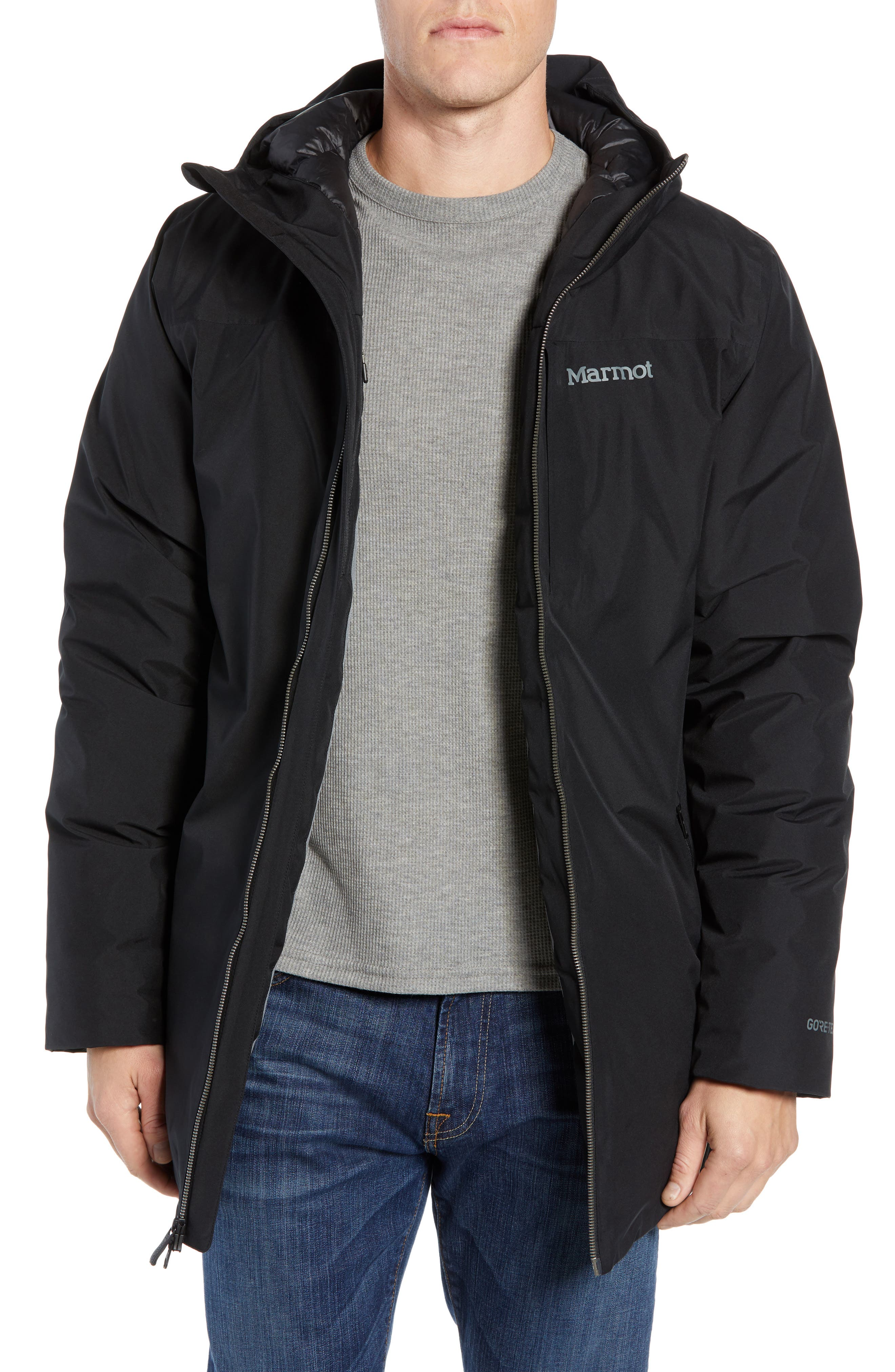 Marmot Oslo Gore-Tex 700 Fill Power Recycled Down Jacket, Black