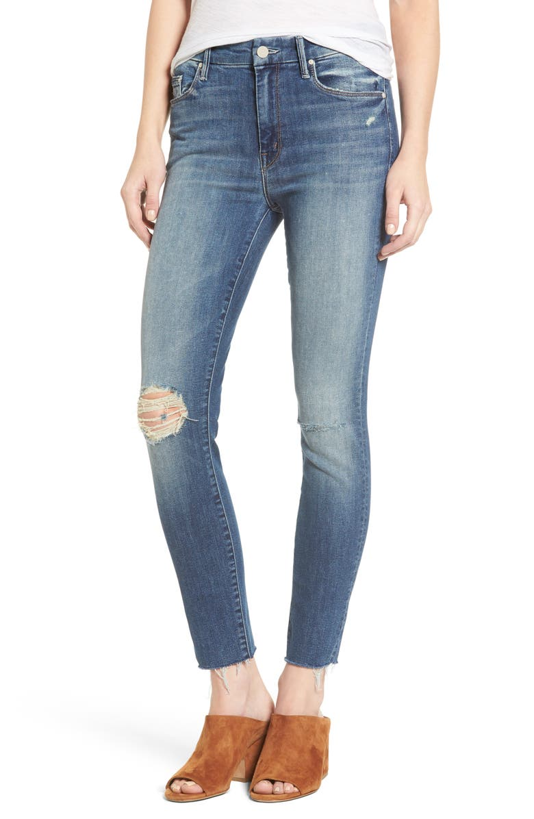 MOTHER The Looker High Waist Ankle Jeans, Main, color, 410