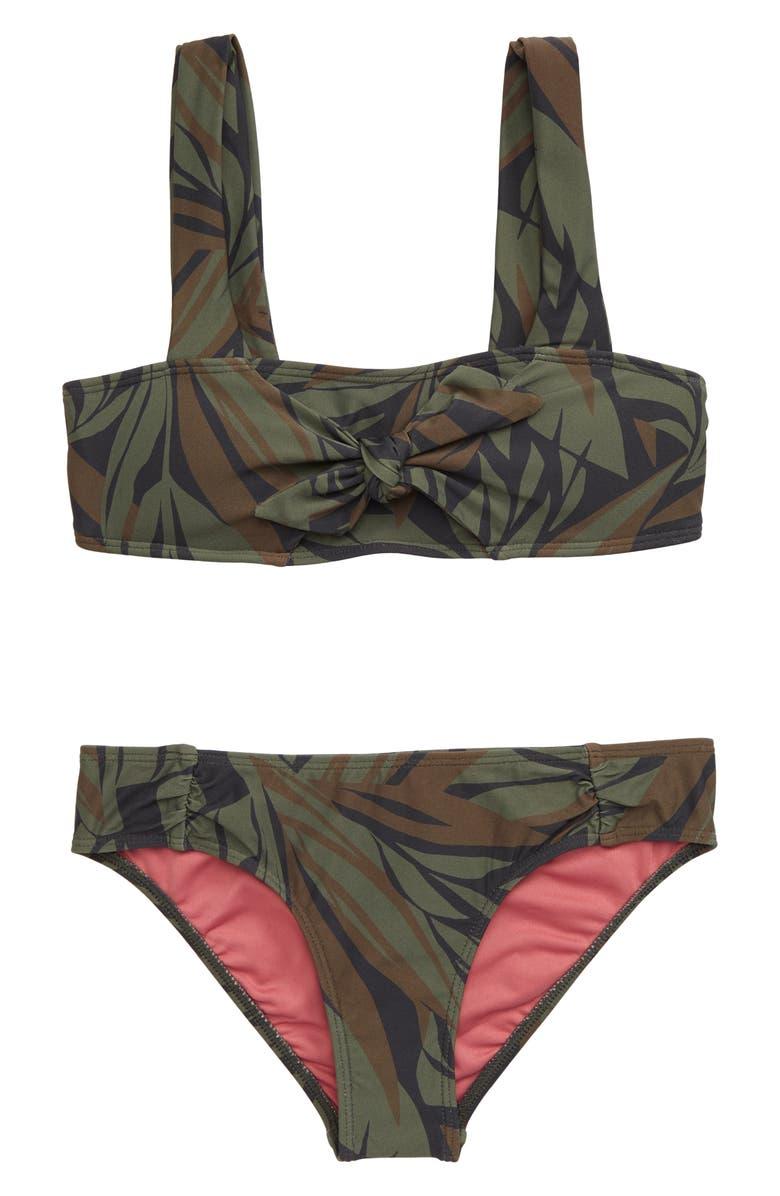 O'NEILL Rania Camo Print Two-Piece Swimsuit, Main, color, CAMO