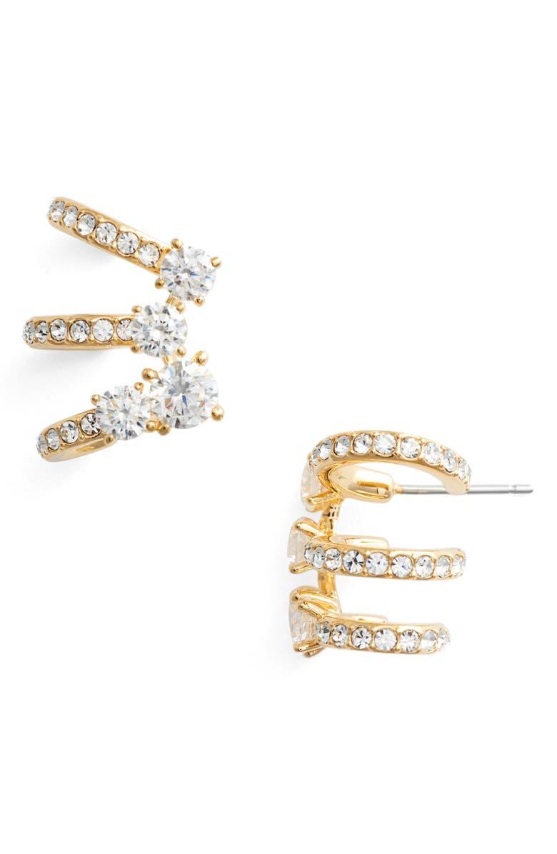 NADRI Multi Hoop Cubic Zirconia Earrings, Main, color, 710