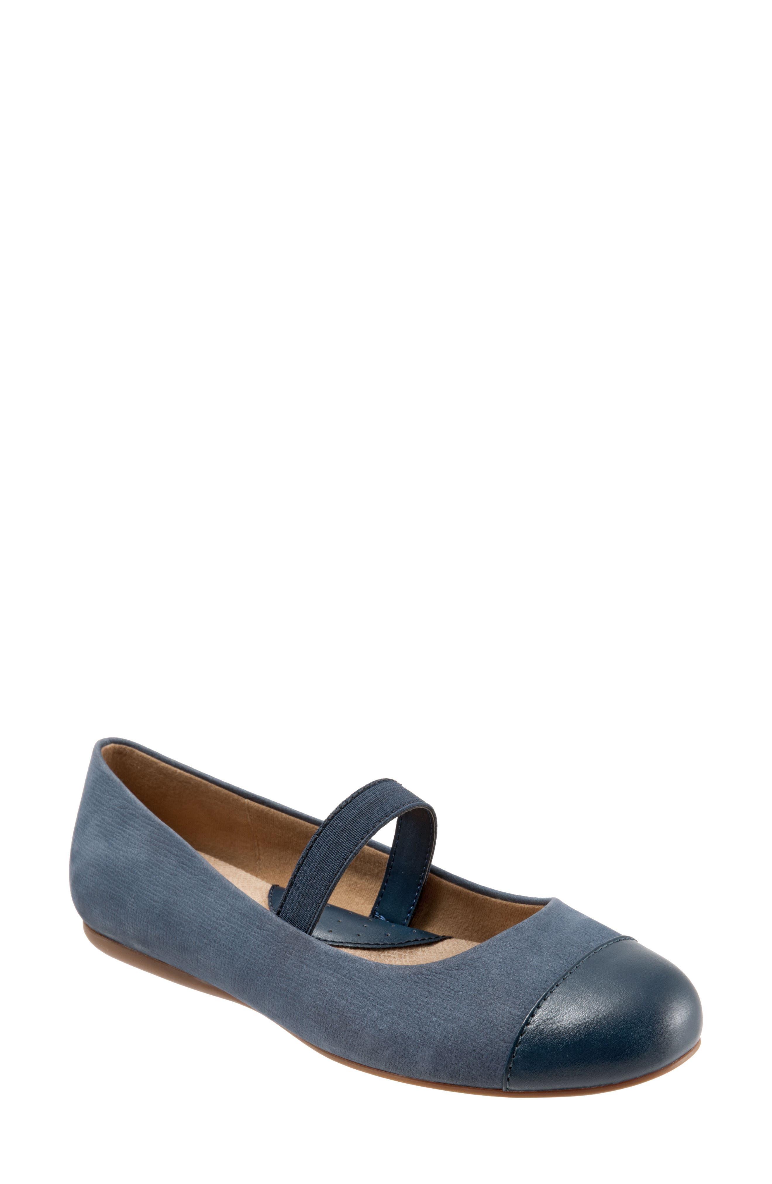 Softwalk Napa Mary Jane Flat, Blue