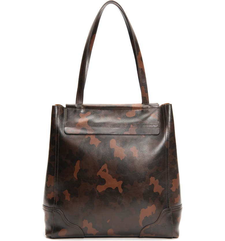 FRYE Charlie Simple Leather Tote, Main, color, BROWN CAMO