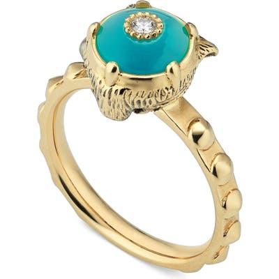 Gucci Le Marche Des Merveilles Feline Head Ring