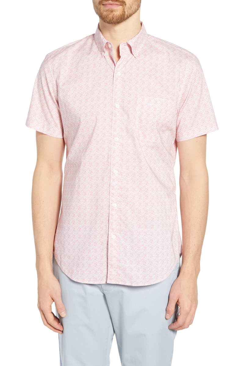 BONOBOS Riviera Slim Fit Floral Print Cotton Shirt, Main, color, BRIDGEWATERFLORAL - COCO BAY