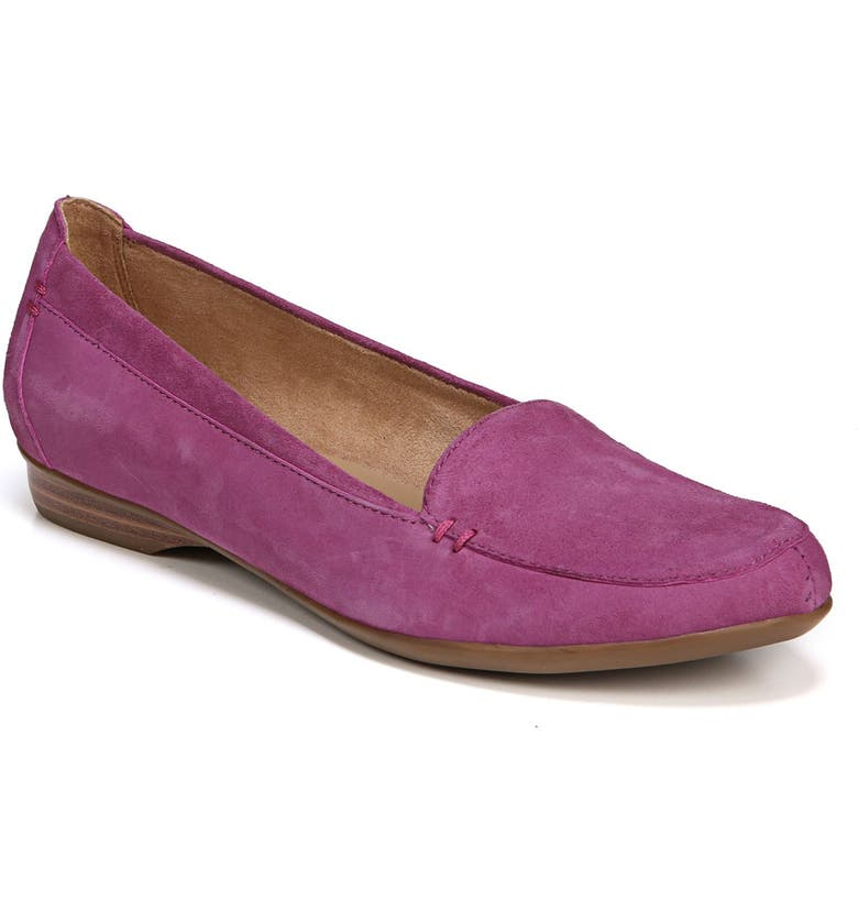NATURALIZER 'Saban' Leather Loafer, Main, color, RADIANT ORCHID SUEDE