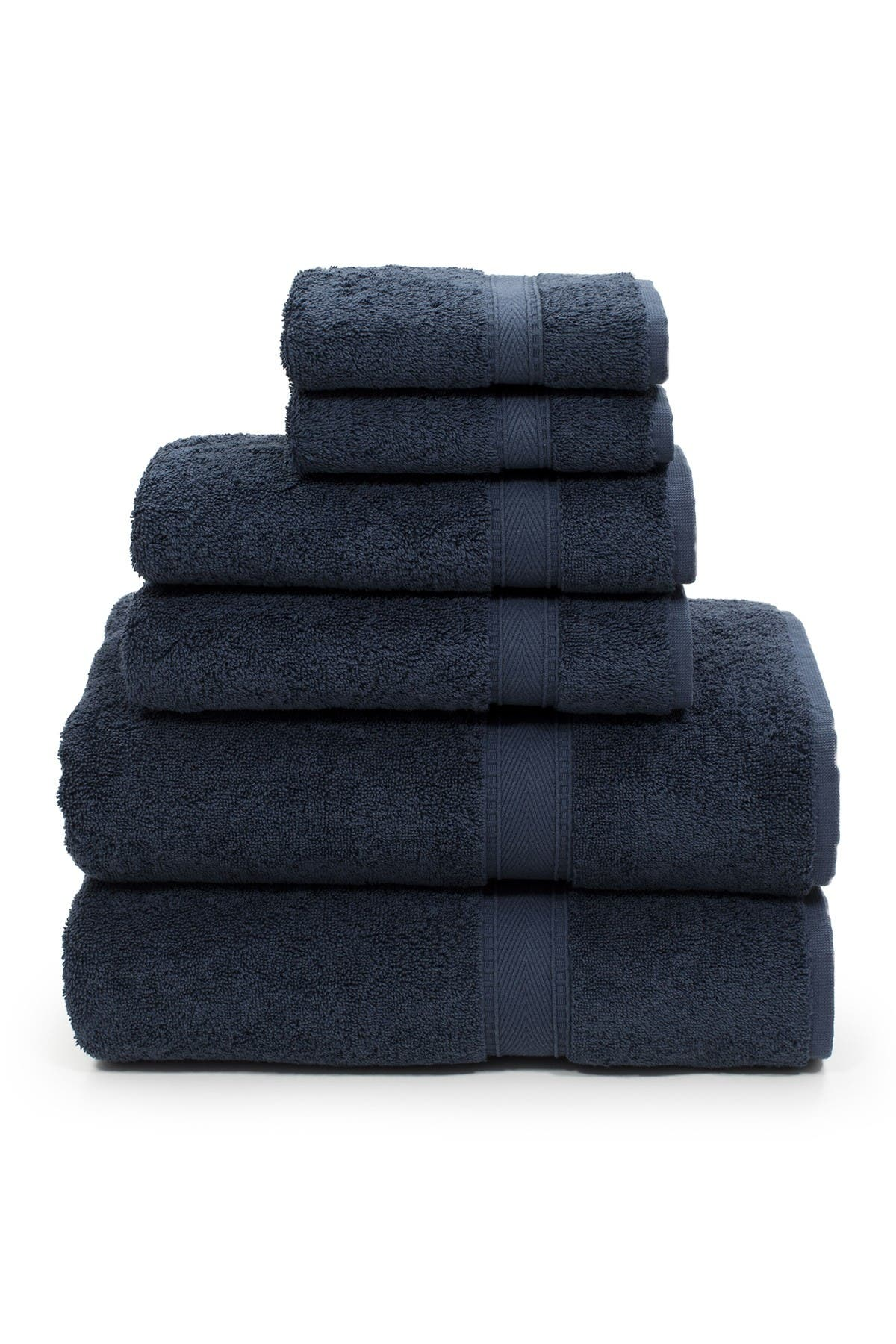 Image of LINUM HOME Sinemis Terry 6-Piece Towel Set - Navy