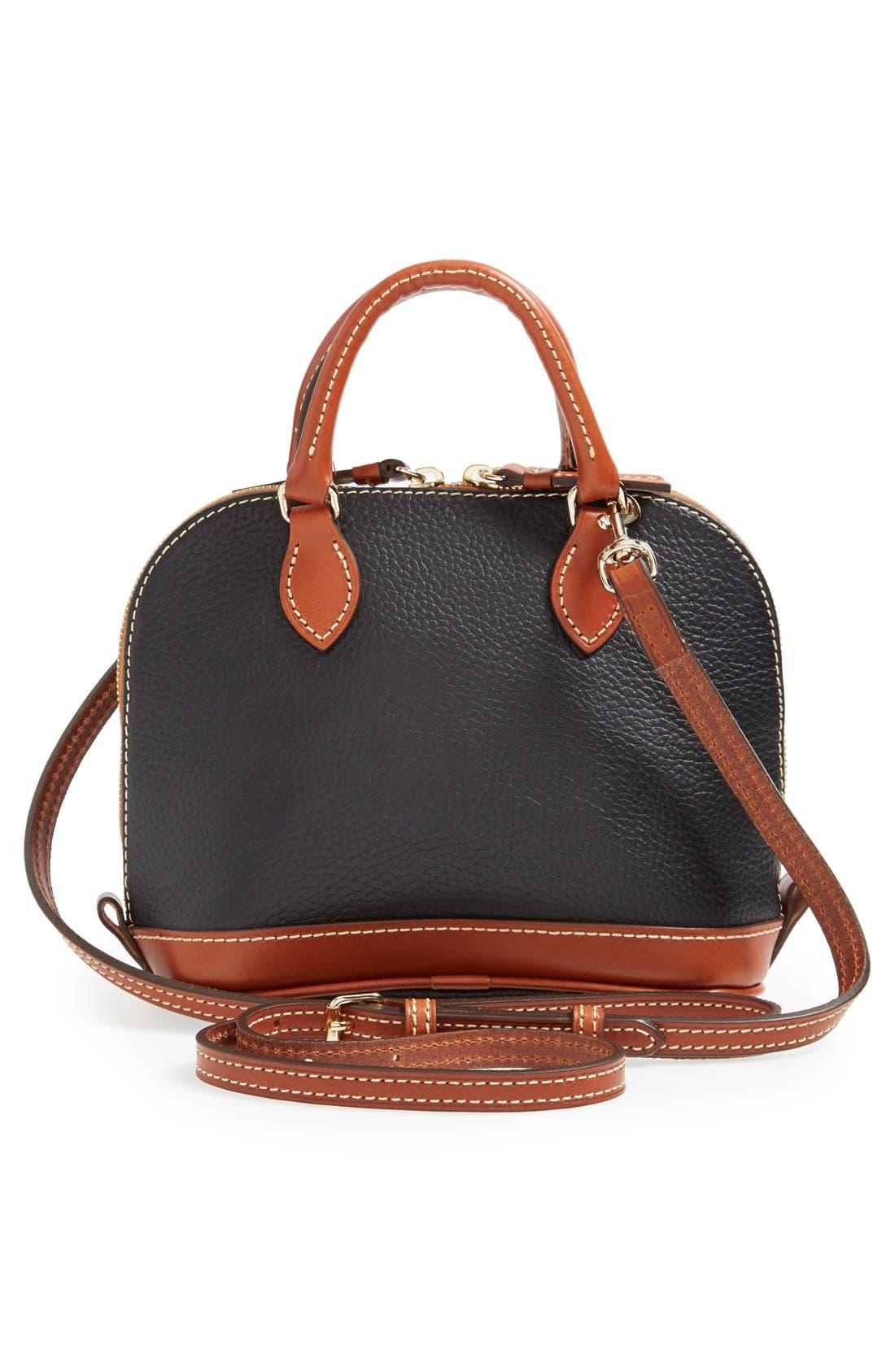 ,                             'Bitsy' Leather Crossbody Bag,                             Alternate thumbnail 5, color,                             001