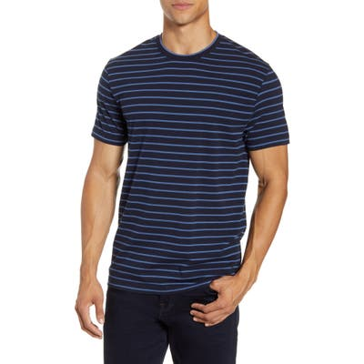 French Connection Tim Stripe T-Shirt, Blue