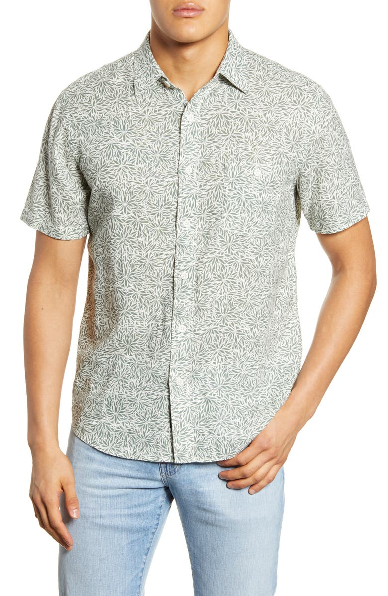 FAHERTY Coast Short Sleeve Button-Up Shirt, Main, color, 340