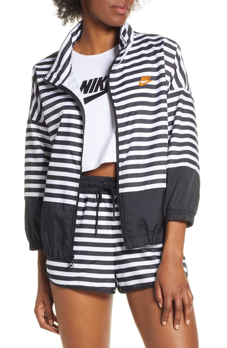NIKE NSW Woven Track Jacket, Main, color, WHITE/ BLACK