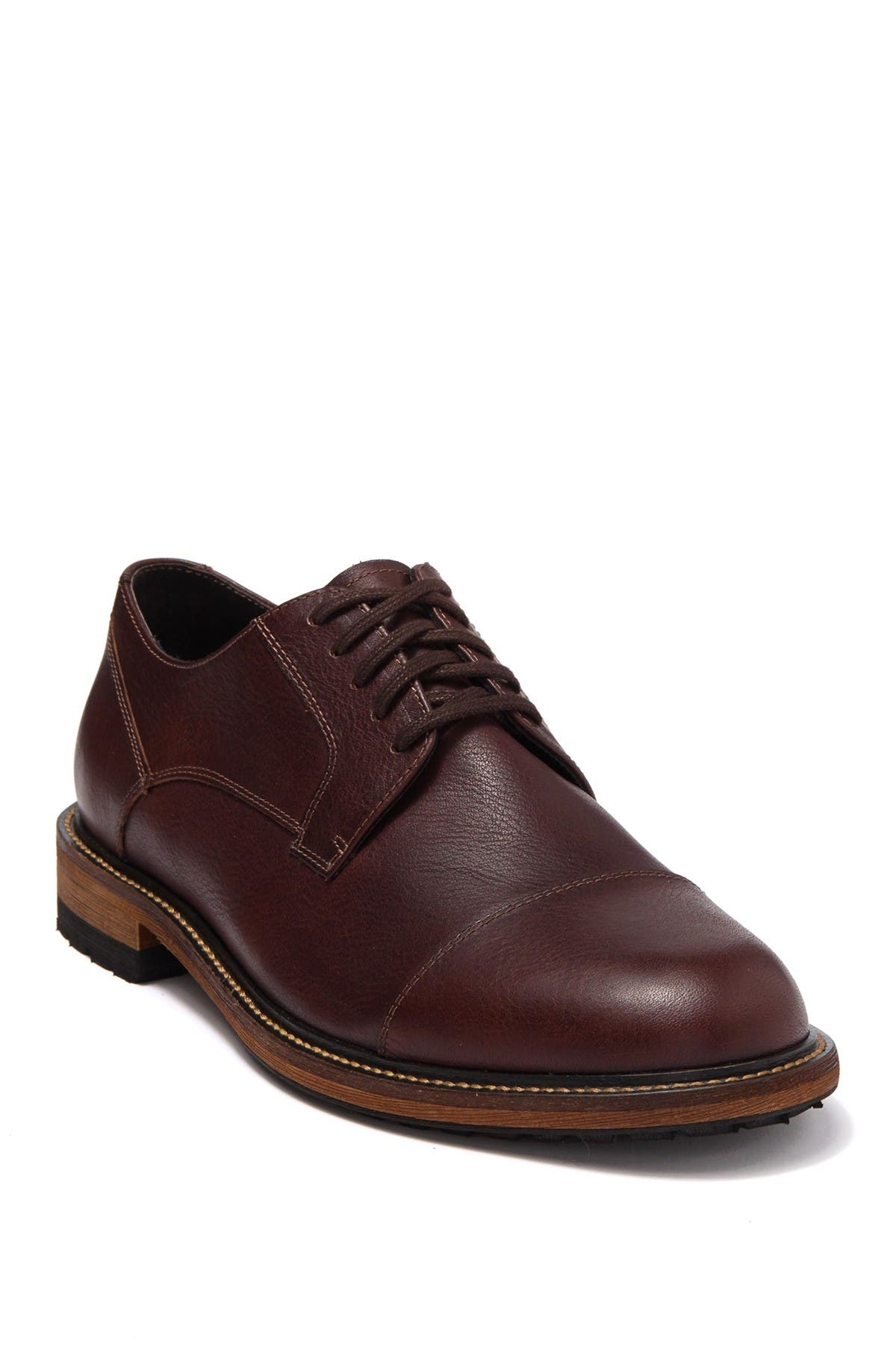 Image of Warfield & Grand Akers Cap Toe Leather Derby