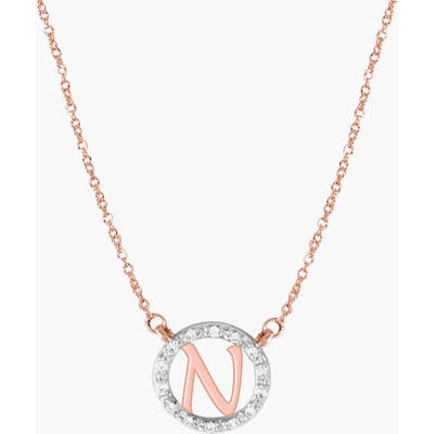 Jane Basch Designs Diamond Pave Initial Pendant Necklace
