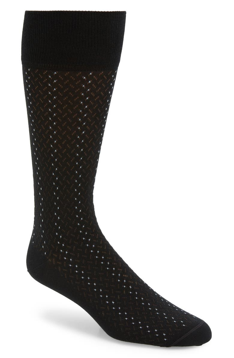 NORDSTROM SIGNATURE Broken Lines Socks, Main, color, BLACK