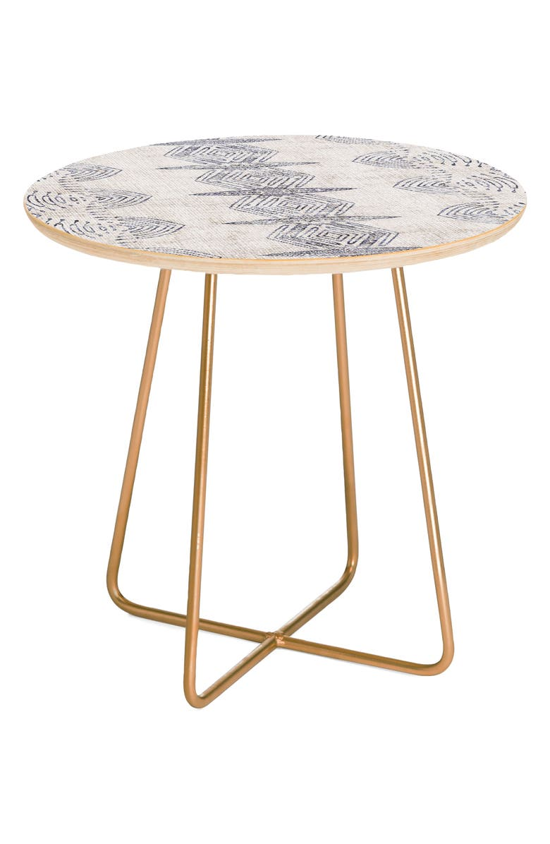 DENY DESIGNS French Eris Side Table, Main, color, BLUE