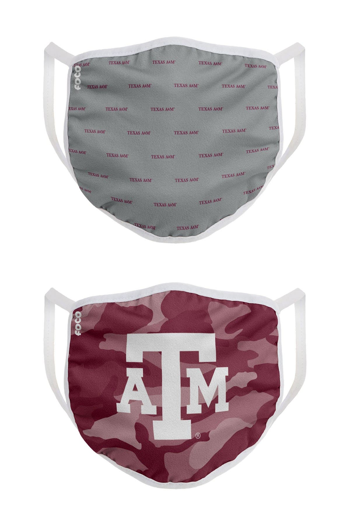 Image of FOCO NCAA Texas A&M Clutch Printed Face Cover - Pack of 2