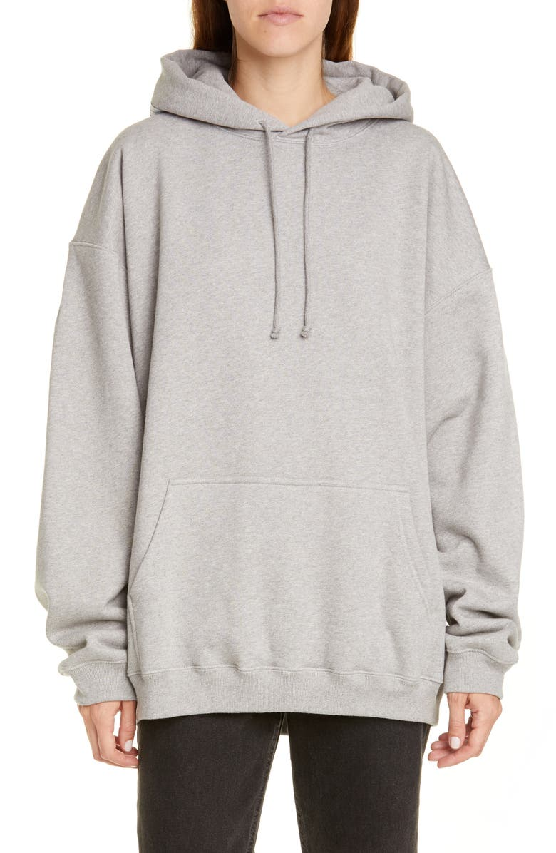 VETEMENTS Atelier Patch Hoodie, Main, color, GREY MELANGE