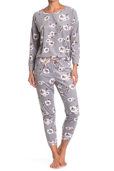 Image of Tahari Floral Printed Pajama 2-Piece Set