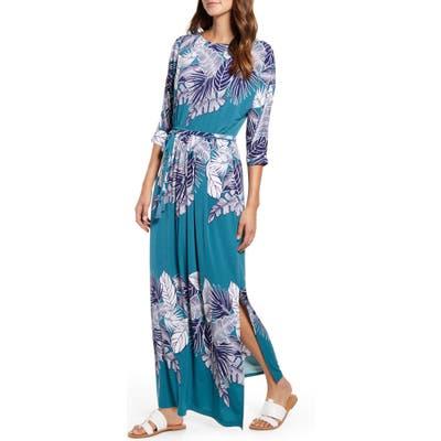 Tommy Bahama Las Palmas Dolman Sleeve Maxi Dress, Green