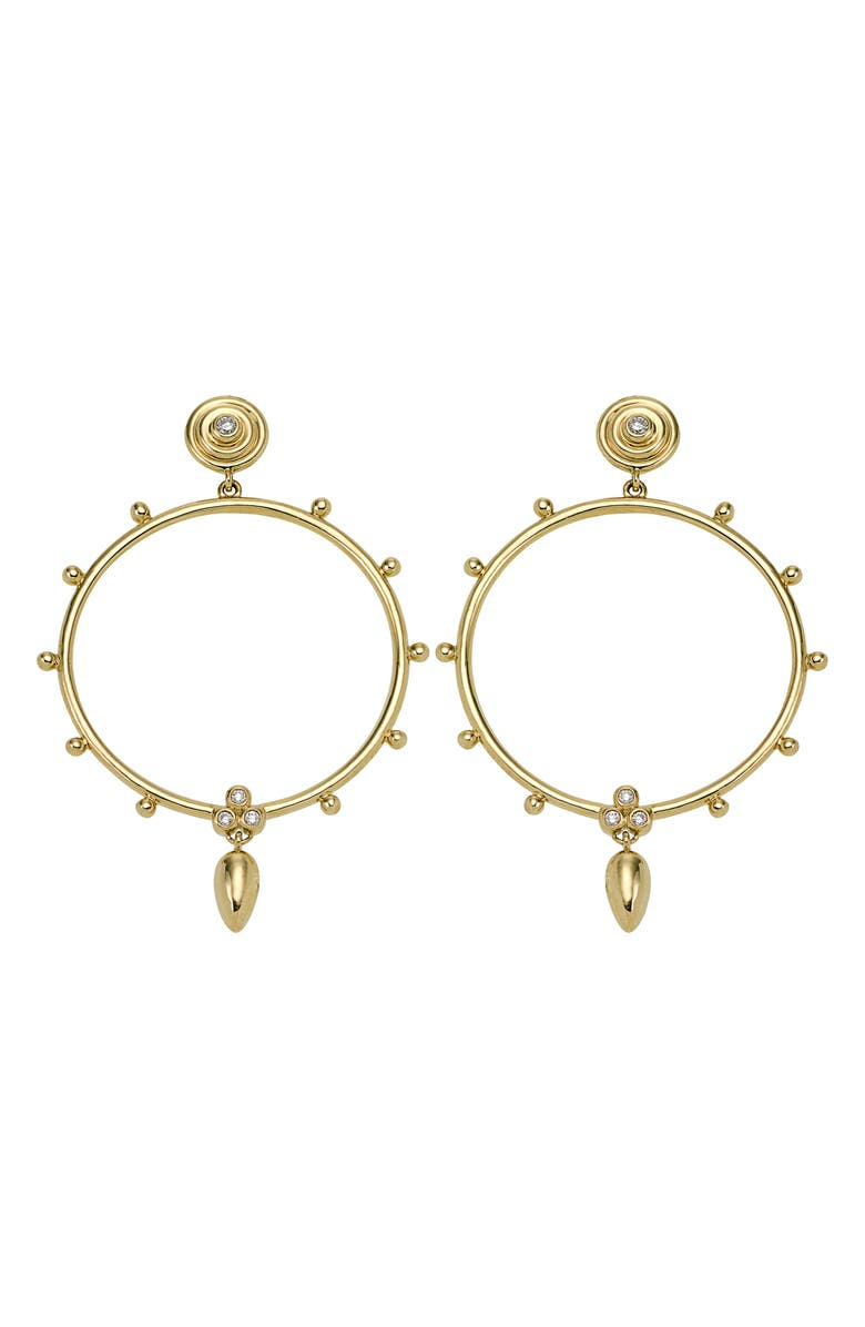 TEMPLE ST CLAIR Temple St. Clair 18K Gold & Diamond Circle Anfora Earrings, Main, color, YELLOW GOLD