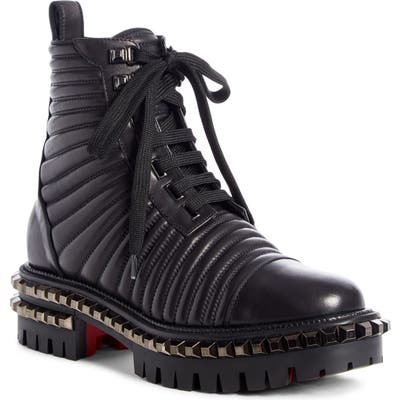 Christian Louboutin Yetota Quilted Combat Boot, Black