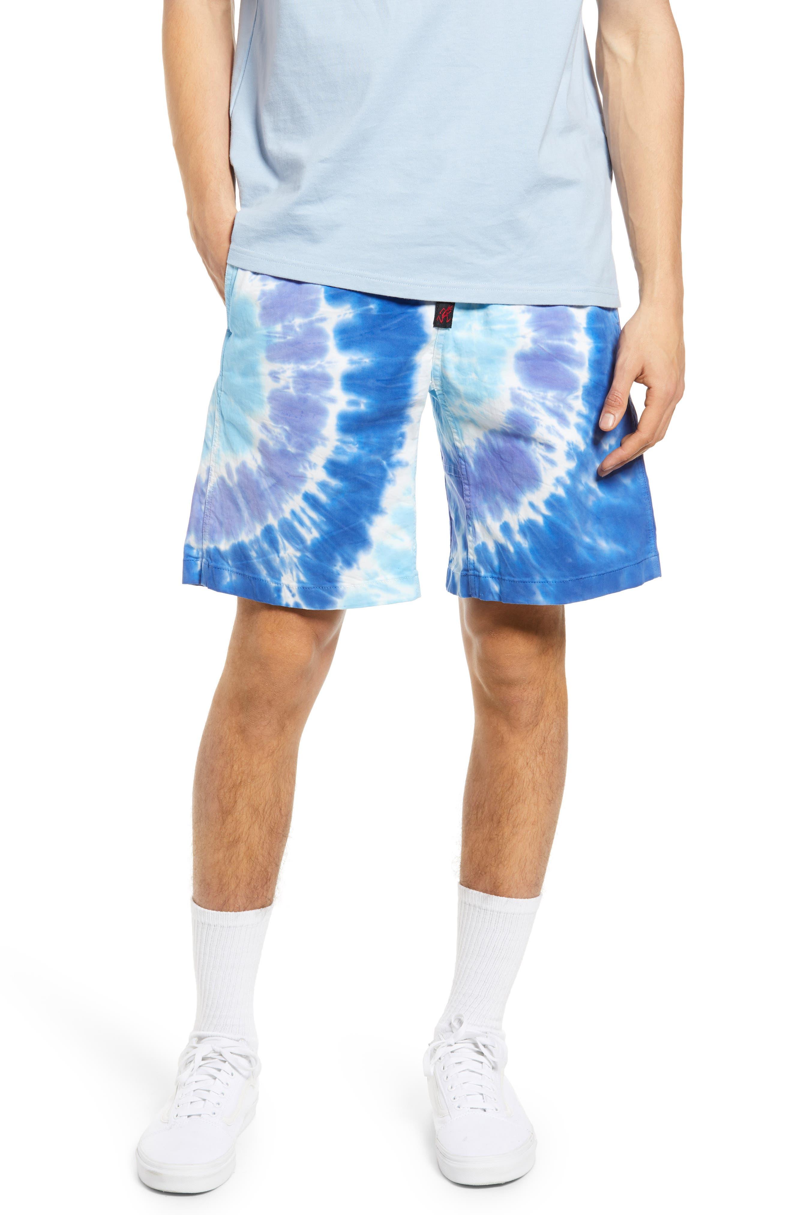 Tie Dye Cotton Blend Shorts