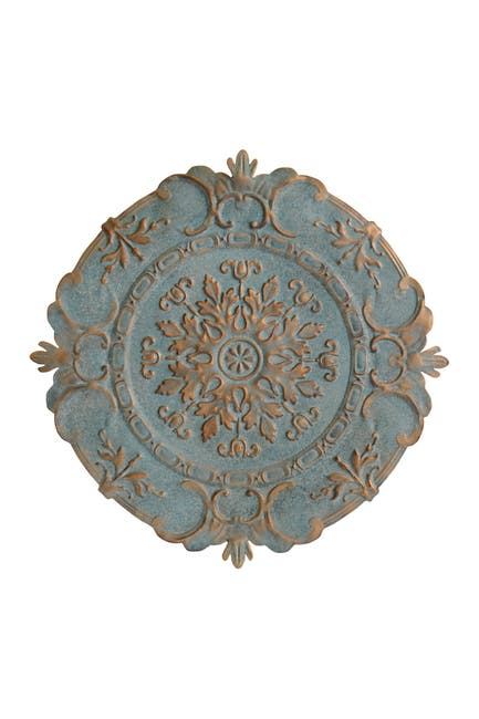Image of Stratton Home Blue European Medallion Wall Decor