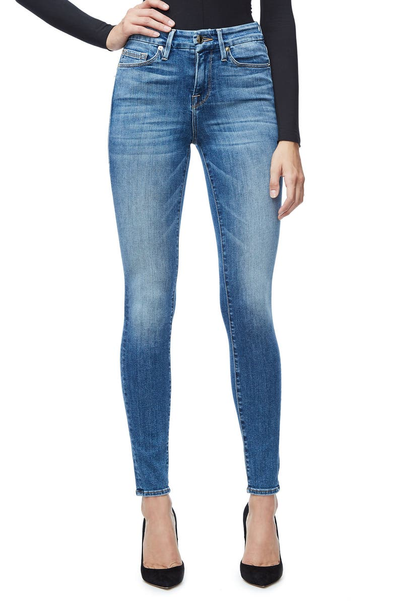 GOOD AMERICAN Good Legs High Waist Skinny Jeans, Main, color, 401