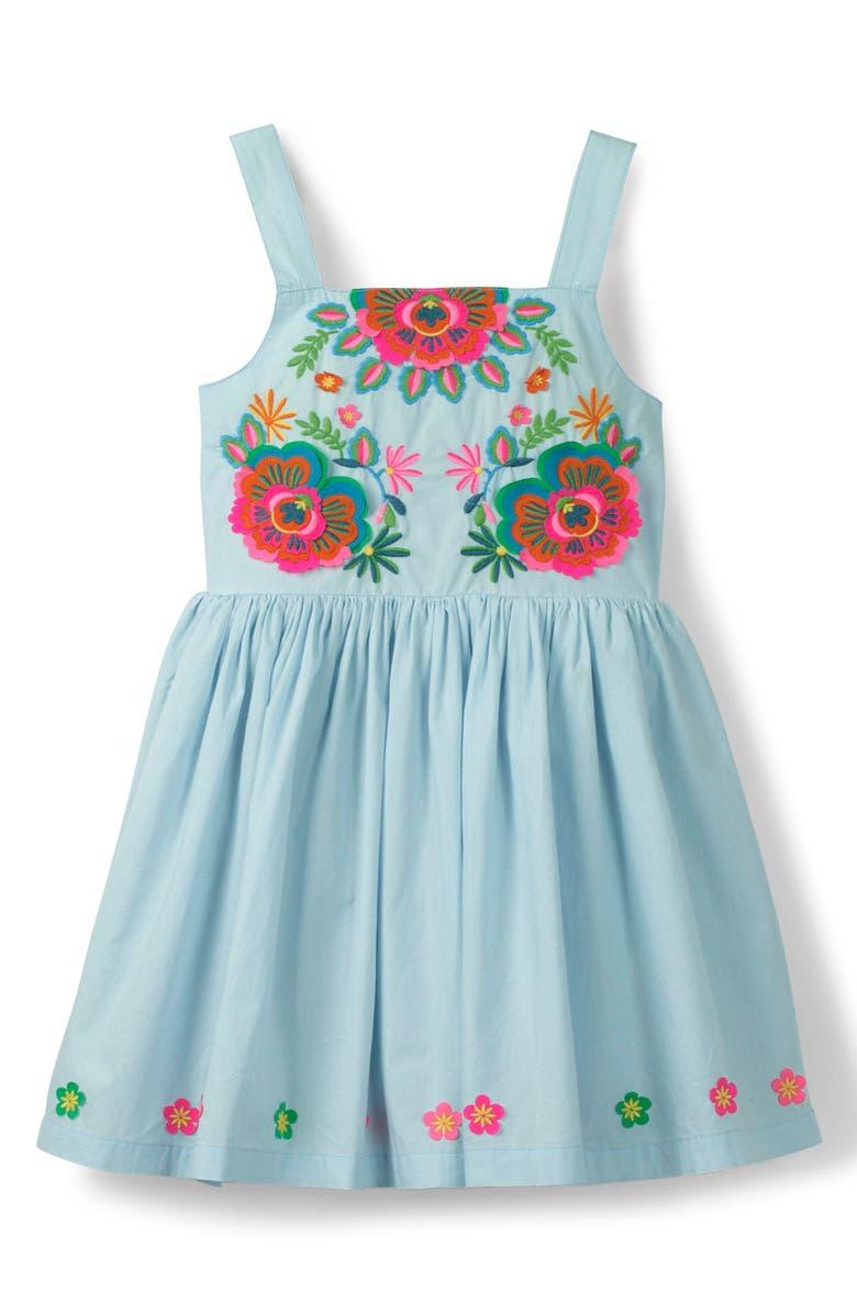 MINI BODEN Fun Appliqué Sleeveless Dress, Main, color, 454