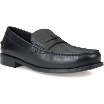 Geox New Damon 1 Slip-On Penny Loafer, Black