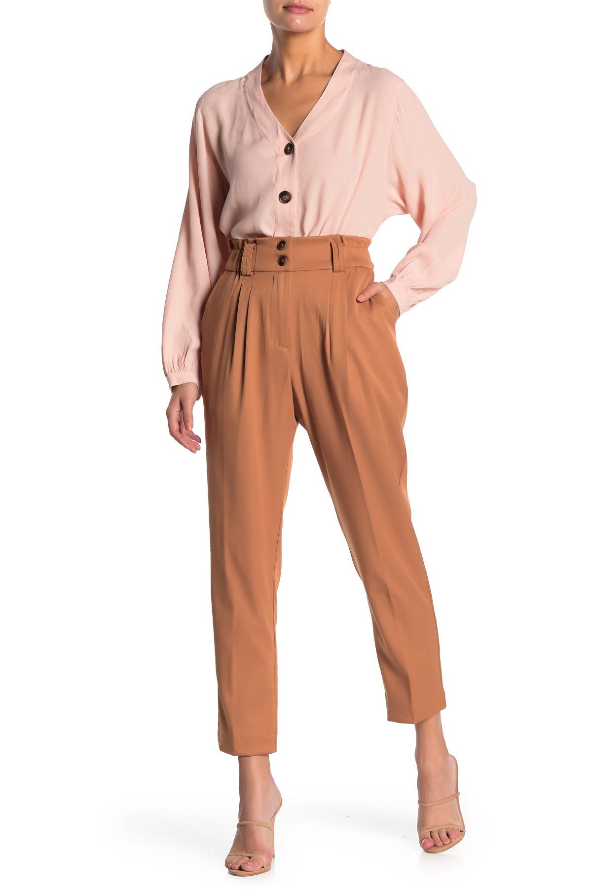 Image of Elodie Double Front Pleated Pants