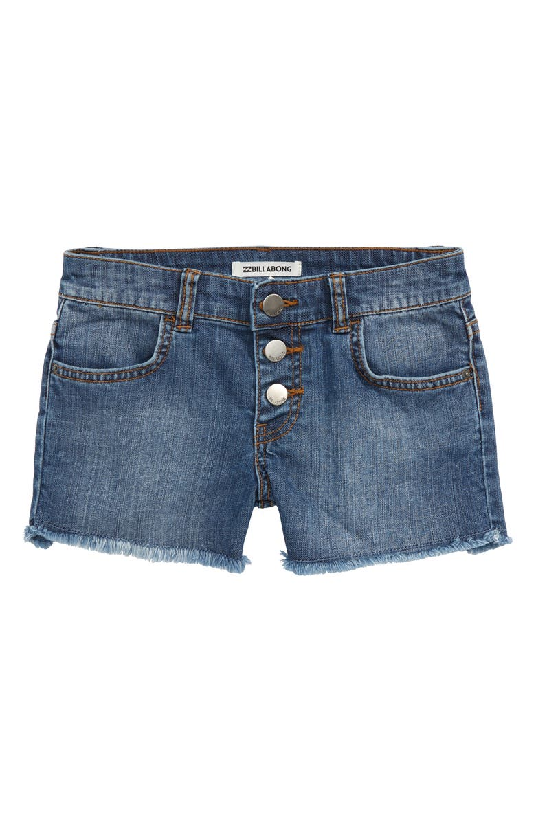 Billabong Buttoned Up Denim Shorts Little Girls Big Girls
