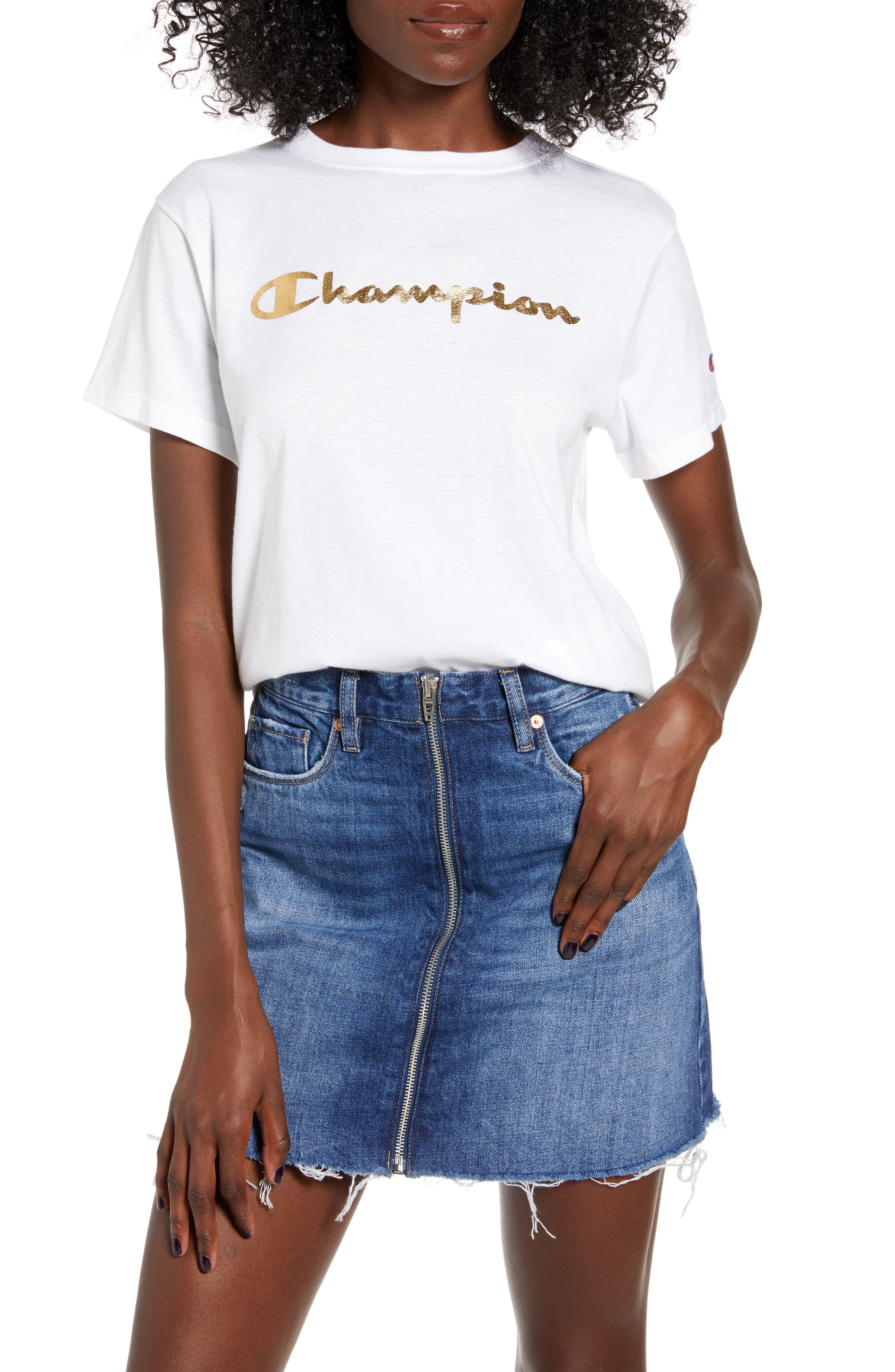 Champion Foil Logo Vintage Tee