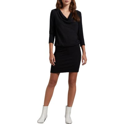 Michael Stars Cecile Madison Ruched Brushed Jersey Dress, Black