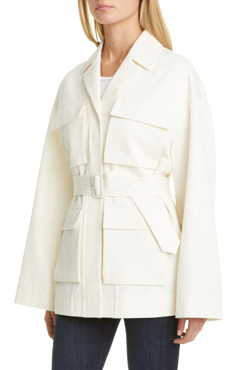 CO Cotton & Wool Safari Jacket, Main, color, IVORY