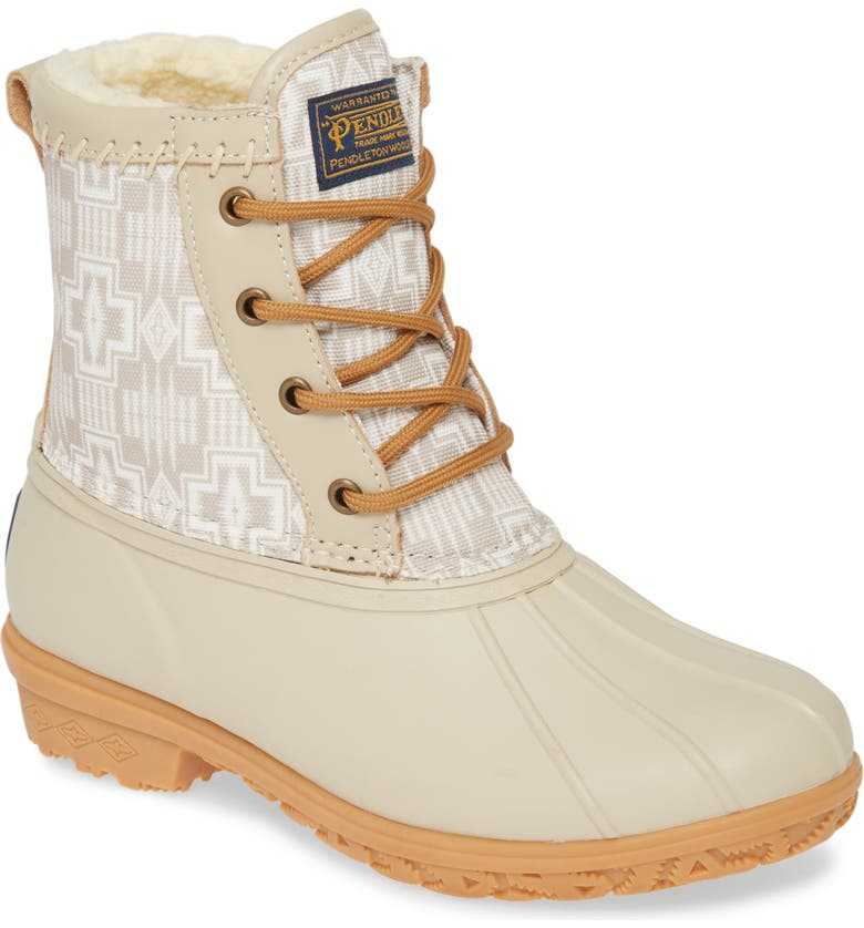 PENDLETON Harding Waterproof Duck Boot, Main, color, TAUPE RUBBER