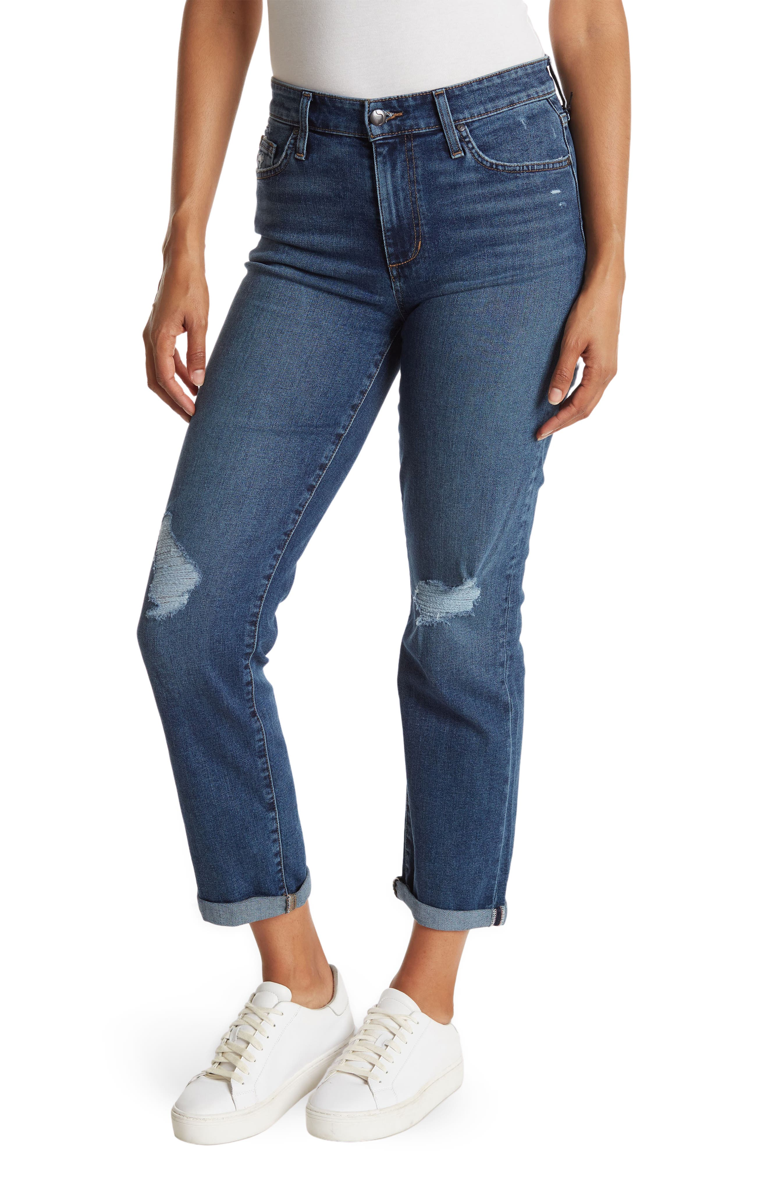 Image of Joe's Jeans Boyfriend Jeans w/ Rolled Hem