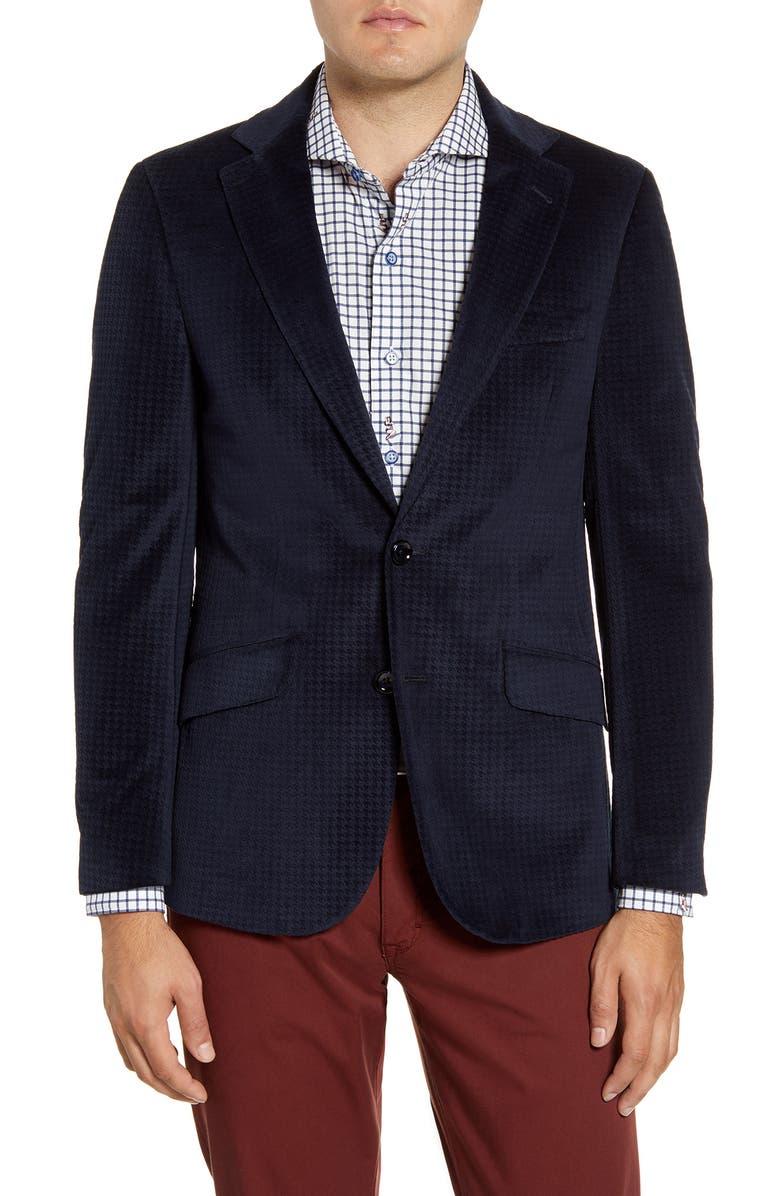 ROBERT GRAHAM Wilkes Regular Fit Velvet Sport Coat, Main, color, 410