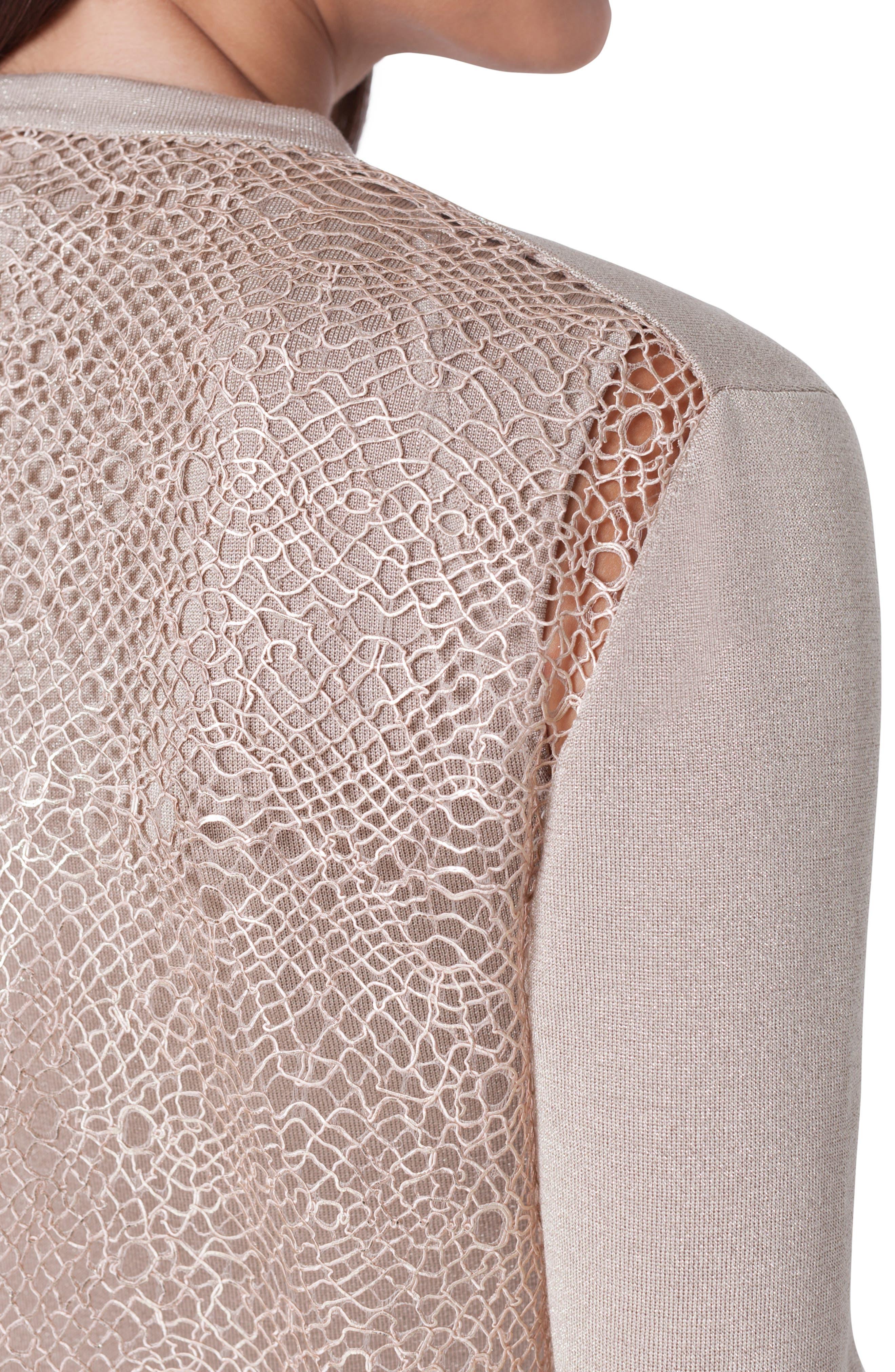 ,                             Metallic Silk Cardigan,                             Alternate thumbnail 3, color,                             CANVAS