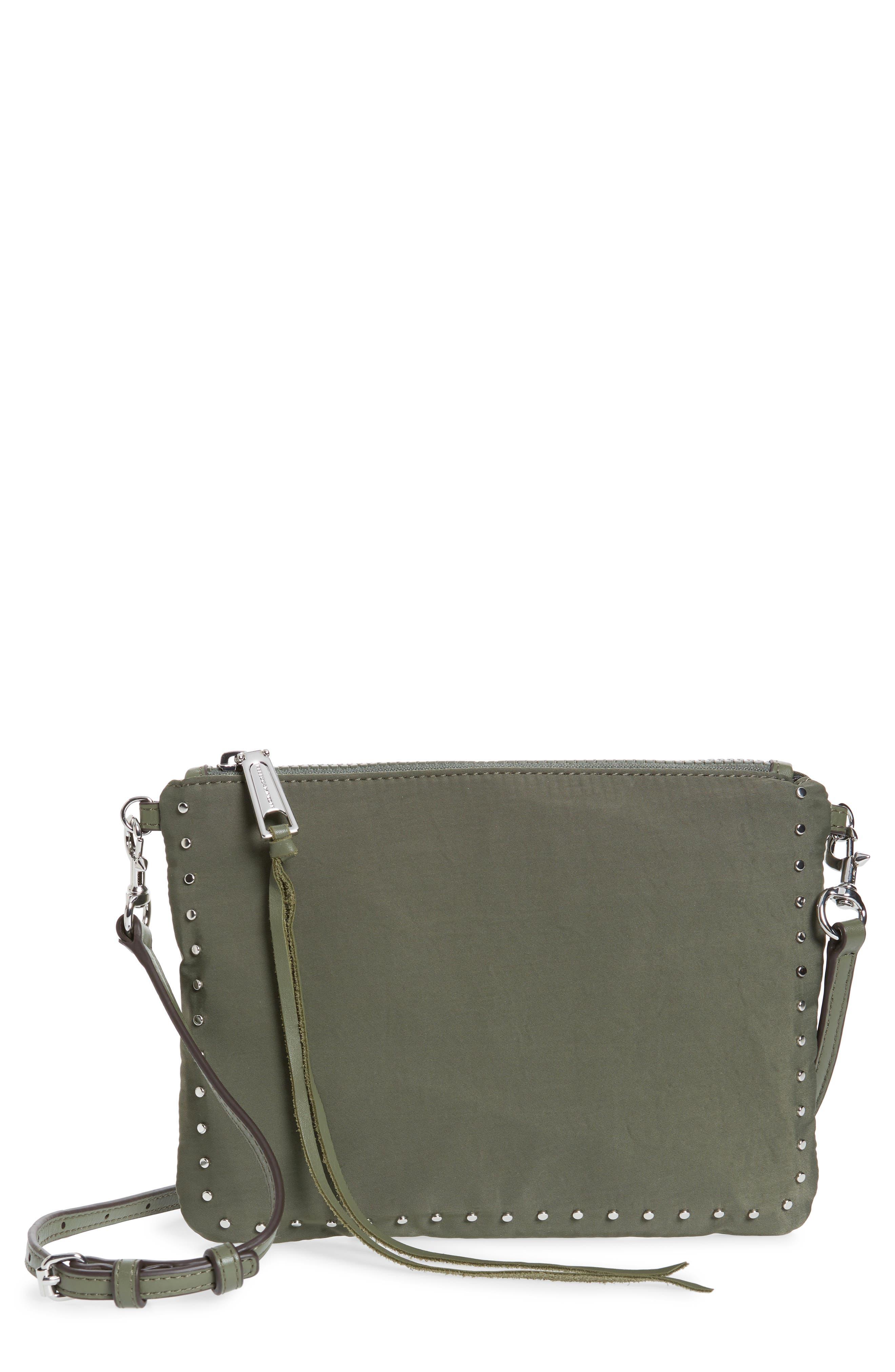 ,                             Jon Studded Nylon Crossbody Bag,                             Main thumbnail 14, color,                             305