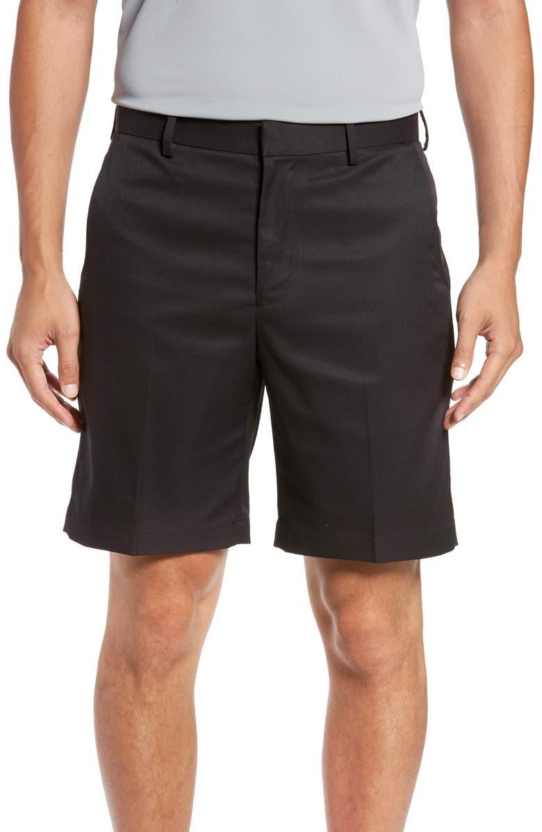 BOBBY JONES XH20 Flat Front Tech Shorts, Main, color, 001