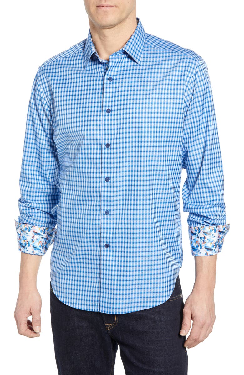 ROBERT GRAHAM Conlan Classic Fit Shirt, Main, color, BLUE