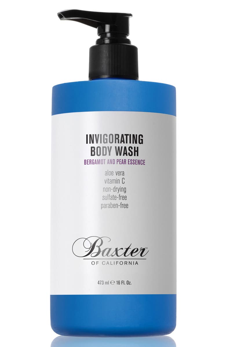 BAXTER OF CALIFORNIA Bergamot & Pear Essence Invigorating Body Wash, Main, color, NO COLOR