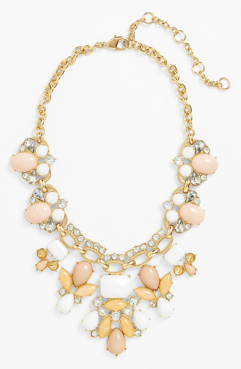LEE BY LEE ANGEL 'Capri' Bib Necklace, Main, color, 100