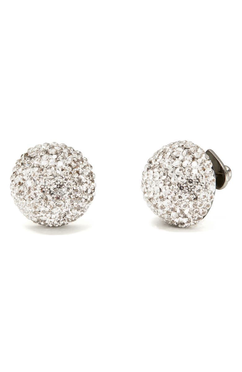 KATE SPADE NEW YORK brilliant statement stud earrings, Main, color, CLEAR