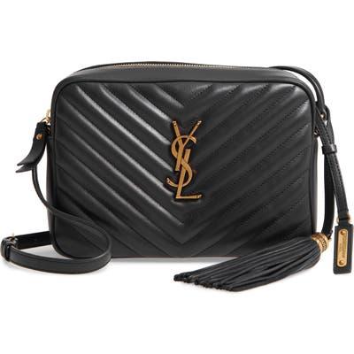Saint Laurent Lou Matelasse Leather Camera Bag - Black