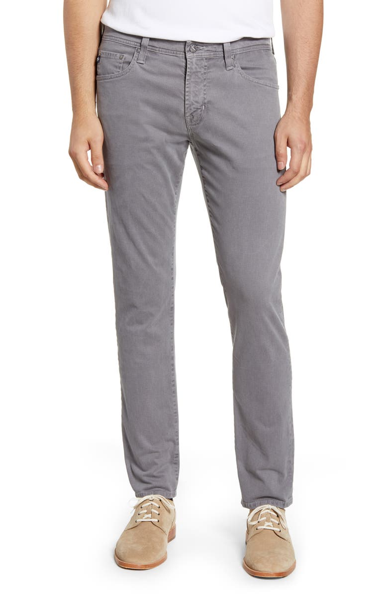 AG Tellis Herringbone Slim Fit Pants, Main, color, JOT GRIM TAUPE
